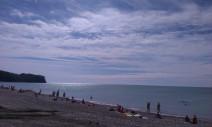 пляж перед гостиничным комплексом ″Торнадо″ п. Новомихайловский Туапсинский р-н