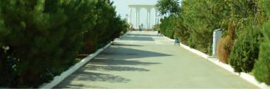 Прогулочная аллея до пляжа п.Николаевка, Крым