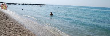 Пляж коттеджного поселка п.Николаевка, Крым