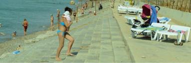 Пляж базы отдыха ″Скиф″ п.Николаевка, Крым