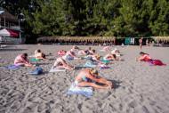 Абхазия Пицунда Литфонд утренняя гимнастика