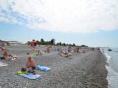 Пляж. Частная гостиница ″Инжир″ пос. Алахадзе, Абхазия